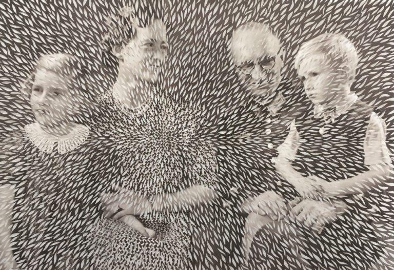 Elisabeth Moritz Berlin 1938 130x 75 cm Cut out utskrift familjefoto Foto Elisabeth Moritz
